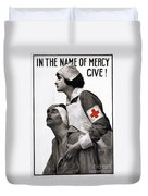 Red Cross Poster, 1917 Duvet Cover