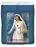 Red Cross Poster, 1918 Duvet Cover