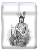 Red Eagle, William Weatherford, Creek Duvet Cover