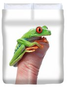 Red-eyed Tree Frog Agalychnis Callidryas Duvet Cover by Corey Hochachka