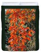 Red Leaves Duvet Cover