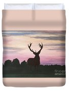 Red Stag At Dusk Duvet Cover
