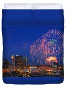 D21l-10 Red White And Boom Fireworks Display In Columbus Ohio Duvet Cover