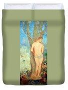 Redon's Saint Sebastian Duvet Cover