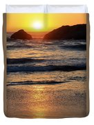 Reflections Of Sunset Duvet Cover