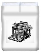 Remington Typewriter Duvet Cover