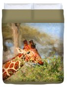 Reticulated Giraffe Kenya Duvet Cover