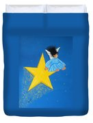 Ride A Shooting Star Duvet Cover