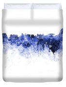 Rio De Janeiro Skyline In Watercolor On White Background Duvet Cover