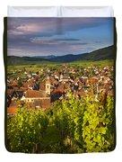 Riquewihr Alsace Duvet Cover