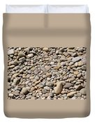 River Rocks Pebbles Duvet Cover