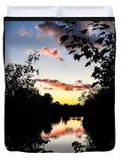 River Sunset Duvet Cover