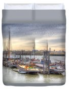 River Thames Boat Community Duvet Cover