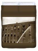 Rochester Show Case Co. Fire New York State Circa 1904 Duvet Cover