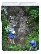 Rock Climbing Rope Climbing Costa Rica Vacations Waterfalls Rivers  Recreation Challanges  Facilitie Duvet Cover