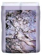 Rocks At Georgian Bay Duvet Cover