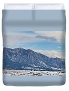 Rocky Mountains Flatirons And Longs Peak Panorama Boulder Duvet Cover