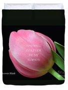 Romantic Pink Tulip Duvet Cover