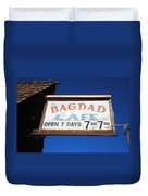 Route 66 - Bagdad Cafe Duvet Cover