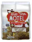 Route 66 - Hill Top Motel Duvet Cover