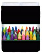 Rows Of Crayons Duvet Cover