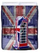 Royal Telephone Box Duvet Cover by David French