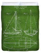 Sailboat Patent Drawing From 1948 Duvet Cover