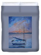 Sailboat Reflections II Duvet Cover
