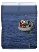 Sailors Lower A Rigid-hull Inflatable Duvet Cover