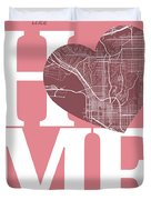 San Diego Street Map Home Heart - San Diego California Road Map  Duvet Cover