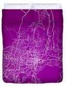San Salvador Street Map - San Salvador El Salvador Road Map Art  Duvet Cover