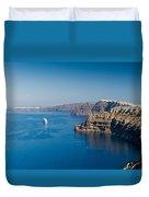 Santorini Caldera Duvet Cover