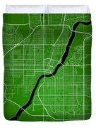 Saskatoon Street Map - Saskatoon Canada Road Map Art On Colored  Duvet Cover