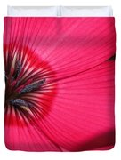 Scarlet Flax Duvet Cover