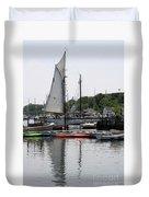 Schooner Camden Harbor - Maine Duvet Cover
