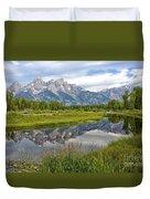 Schwabacher Landing - Grand Tetons Duvet Cover