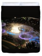 D101l-216 Scioto Mile Riverfront Park Fountain Photo Duvet Cover