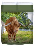 Scottish Highlander Ox Duvet Cover