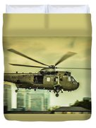 Sea King Helicopter Duvet Cover