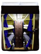 Seaman Lockers And Bunks Aboard Uss Duvet Cover