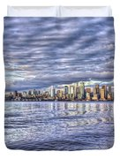 Seattle Skyline Cityscape Duvet Cover