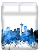Seattle Washington Skyline Duvet Cover