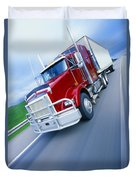 Semi-trailer Truck Duvet Cover