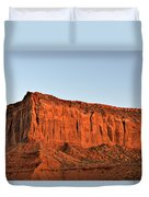 Sentinel Mesa Monument Valley Duvet Cover by Christine Till