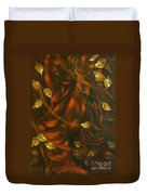 She...autumn Duvet Cover by Elena  Constantinescu