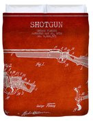 Shotgun Patent Drawing From 1918 Duvet Cover