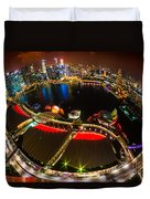 Singapore City Skyline Duvet Cover