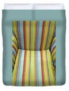 Sitting On Stripes Duvet Cover