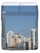 Skyline Miami Duvet Cover