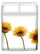 Small Sunflowers Or Helianthus Duvet Cover